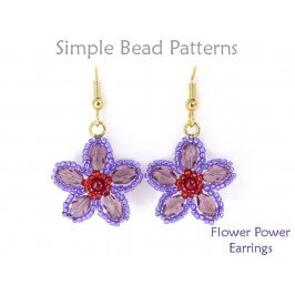How to Make Beaded Flower Earrings Jewelry Making Beading Pattern