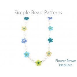 How to Make a Beaded Flower Necklace by Simple Bead Patterns