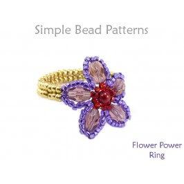 DIY Flower Ring Jewelry Making Beading Tutorial by Simple Bead Patterns