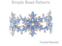 DIY Beaded Snowflake Bracelet Jewelry Making Beading Pattern