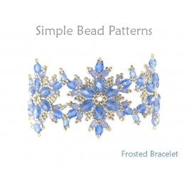 DIY Beaded Snowflake Bracelet Jewelry Making Beading Pattern
