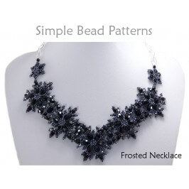 DIY Beaded Snowflake Necklace Jewelry Making Beading Pattern