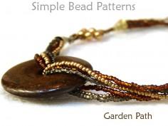 Multi Strand Beaded Necklace Tutorial with Gemstone Donut Pendant