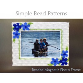 Peyote Stitch Beading Pattern for a Beaded Magnetic Photo Frame