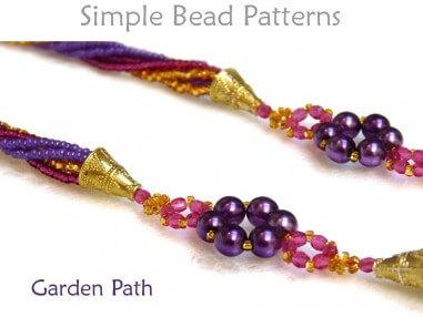 Beading pattern Triangle weave beaded pendant raw Tutorial Annie Donut Pendant