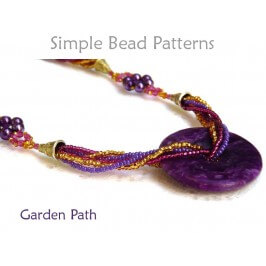 Multi Strand Beaded Necklace Tutorial with Gemstone Donut Pendant