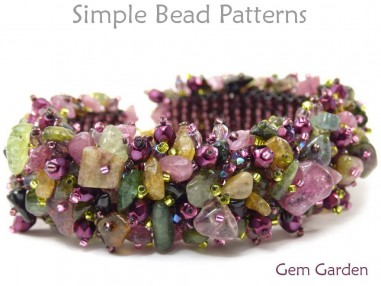 How to Make Gemstone Jewelry Gemstone Chip Bracelet Beading Pattern