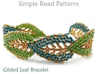 Beaded Russian Leaf Earrings Pattern Diagonal Peyote Stitch Tutorial