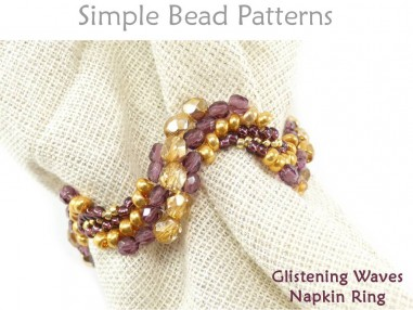 DIY Beaded Napkin Rings Pattern Peyote Stitch Tutorial