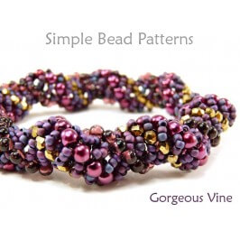 Dutch Spiral Beading Instructions for Beaded Bracelet and Necklace