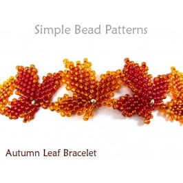 Beaded Autumn Leaf Bracelet Fall Jewelry Making Beading Pattern