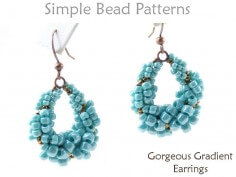 How to Make Beaded Earrings Step by Step with Spiral Stitch