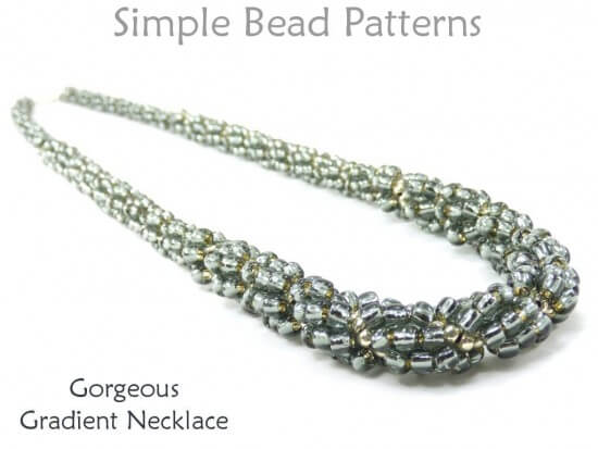 Spiral Beaded Necklace Instructions Jewelry Making Tutorial