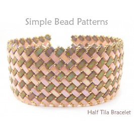 Half Tila Beads Pattern for How to Make a Bracelet with Two Hole Beads