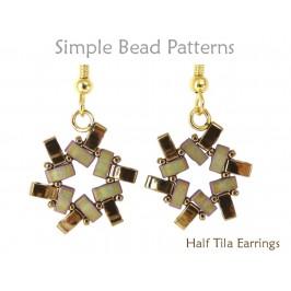 DIY Earrings Using Two Hole Half Tila Beads Jewelry Making Tutorial