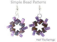 DIY Earrings Using Two Hole Half Tila Beads Jewelry Making Tutorial