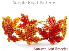 Beaded Autumn Leaf Bracelet Fall Jewelry Making Beading Pattern