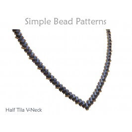 Two Hole Bead Pattern Half Tila Necklace Jewelry Making Tutorial