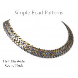 Half Tila Bead Pattern Necklace Design with Beads DIY Jewelry Making