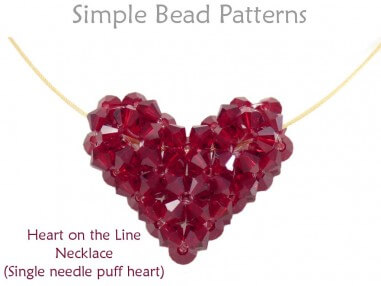 How to Make a Beaded Heart Pendant Necklace Beading Pattern