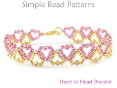 Heart Bracelet Pattern Jewelry Making Beading Tutorial