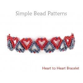 Heart Bracelet Pattern Jewelry Making Beading Tutorial