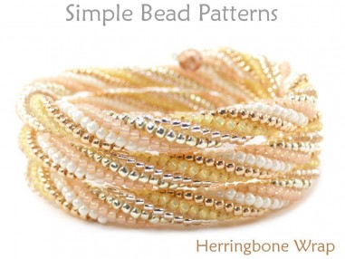 How to Make a Beaded Wrap Bracelet Tubular Herringbone Stitch Pattern