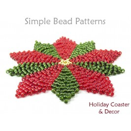 Learn How to Make a Beaded Coaster DIY Christmas Decor Beading Pattern