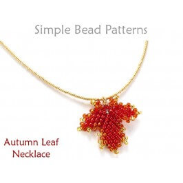 Beaded Autumn Leaf Necklace Fall Jewelry Making Beading Pattern