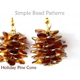 Make Beaded Pine Cones for DIY Earrings and a Beaded Necklace