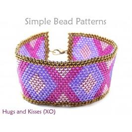 Peyote Stitch Bracelet Pattern for Beaded Valentines Day Bracelet