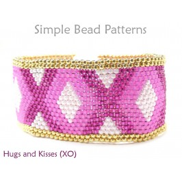 Peyote Stitch Bracelet Pattern for Beaded Valentines Day Bracelet