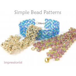 Beaded Bracelet Pattern Right Angle Weave Tutorial