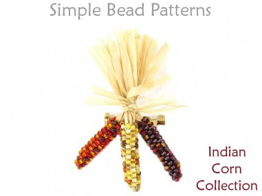 Beaded Indian Corn Thanksgiving Earrings Necklace Brooch Pin Tutorial