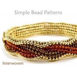 Herringbone Stitch Beading Tutorial Braided Bracelet with Beads