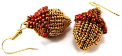 Beaded Acorn Earrings Pattern
