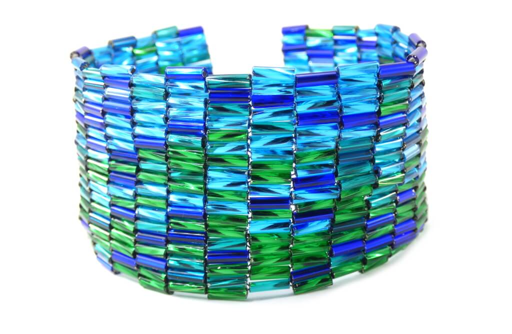 Peyote Stitch Bugle Bead DIY Bracelet Pattern