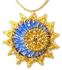 Beaded Sun and Moon Necklace Beading Pattern