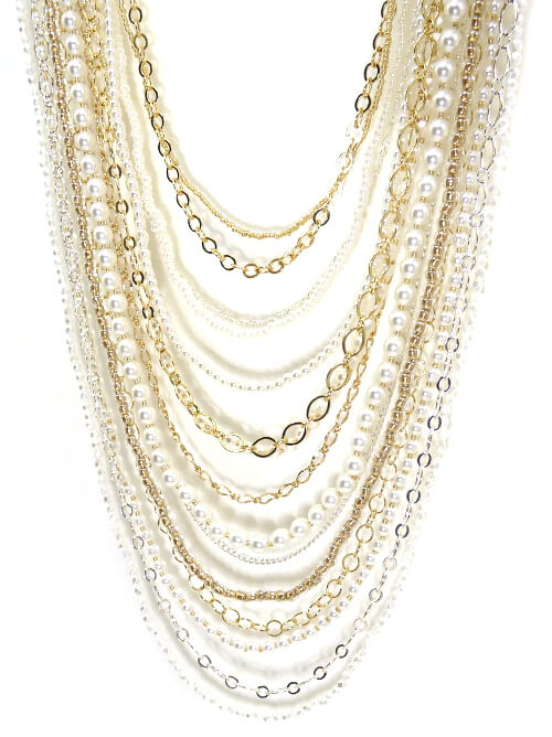 Long Multi-Strand Necklace Beading Pattern